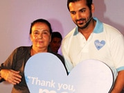 John Abraham plays basket ball with mom!