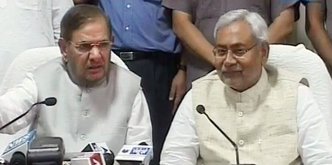 Nitish Kumar with Sharad Yadav