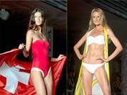 Bikini clad models heat up the runway