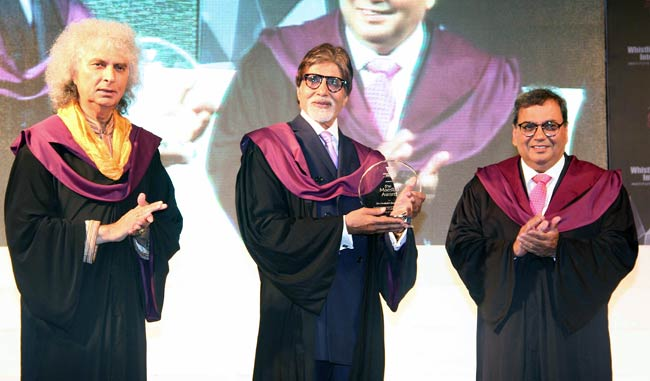 Amitabh Bachchan at Whistling Woods International