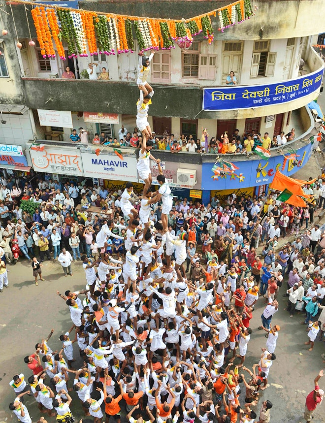 Mumbai comes together for 'Dahi handi' fastival
