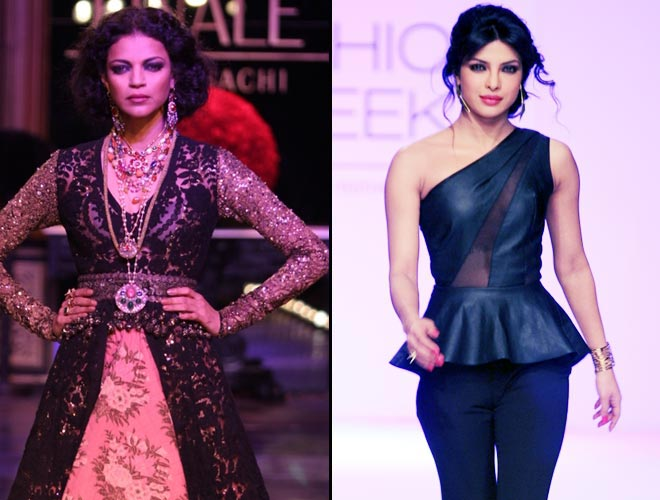 Priyanka Chopra walks the ramp on Day 5 of Lakme Fashion Week 2013