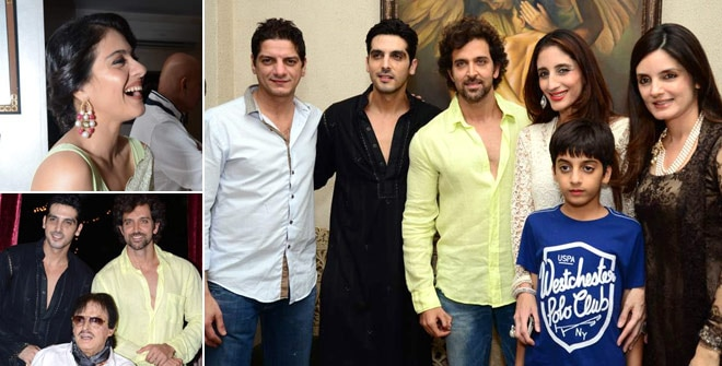 It's party time in Bollywood. Celebs attended another iftar function, this time at Zarine Khan's house.