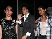 SRK, Gauri, Karisma attend Chunky Pandey's b'day bash