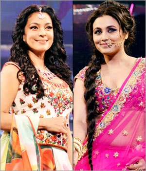 Yash Chopra's leading ladies grace the ramp in their finest.