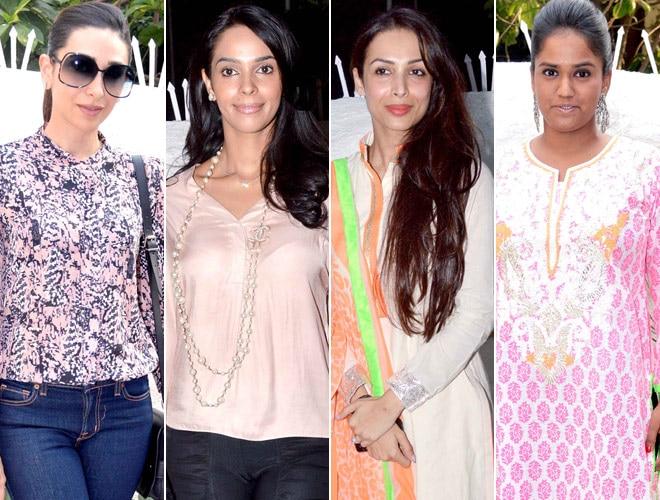 Karisma, Mallika, Malaika and Arpita Khan