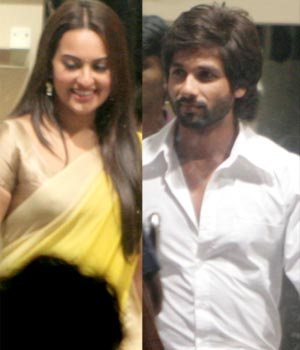 Collage of Shahid Kapoor and Sonakshi Sinha
