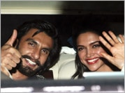 Ram-leela effect: Ranveer and Deepika in matching monochrome outfits
