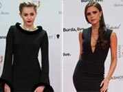Dark and intense: Miley, Victoria stun on-lookers in black floor length outfits
