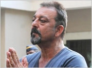 Back home after parole, Sanjay Dutt makes an appearance