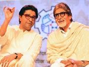 Amitabh Bachchan, Raj Thackeray bury past bitterness