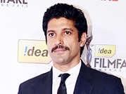 Farhan Akhtar attends the 59th Filmfare Awards press conference