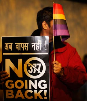 LGBT pride: Gay rights activists flag a candlelight protest in the Capital after SC refused to review verdict that declares gay sex a punishable offence