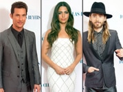 Matthew McConaughey, Camila Alves and Jared Leto