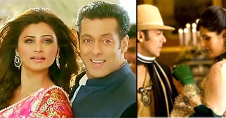 Collage of Salman Khan with his leading ladies