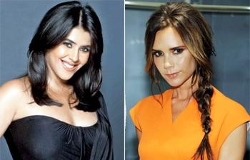 Ekta Kapoor and Victoria Beckham
