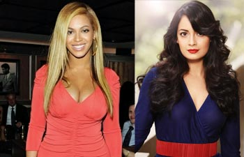 Beyonce and Dia Mirza