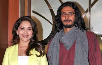 Madhuri Dixit and Abhishek Chaubey