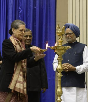 PM, Sonia at the launch of NAWADCO