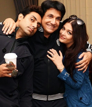 Shiamak Davar, Abhishek Bachchan, Aishwarya Rai Bachchan
