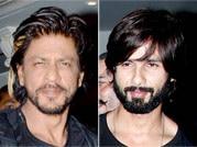 SRK, Shahid and Prateik enjoy at restaurant launch