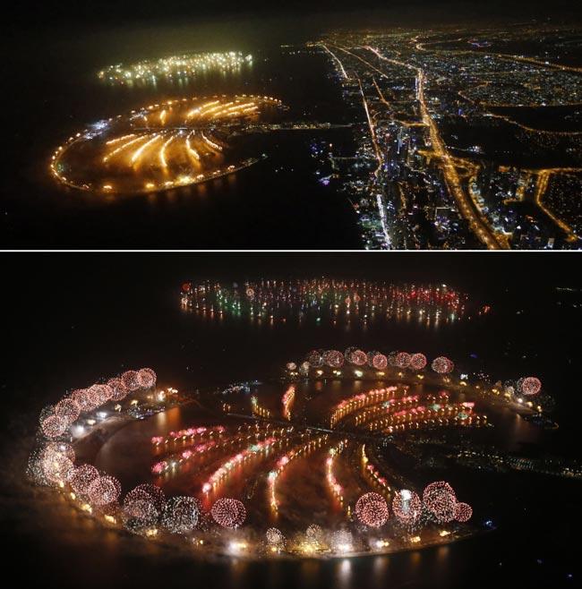 Largest fireworks show, Dubai