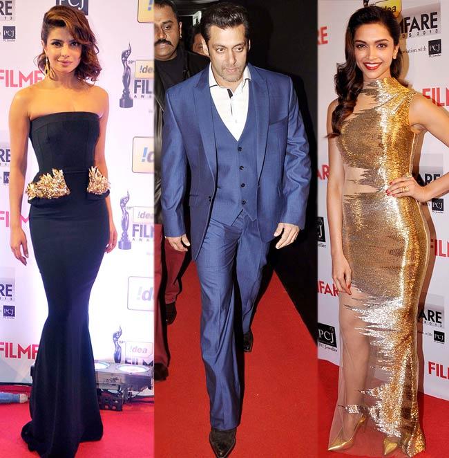 Idea Filmfare Awards 2013 red carpet