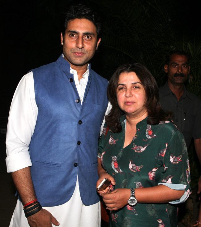 Abhishek Bachchan and Farah Khan