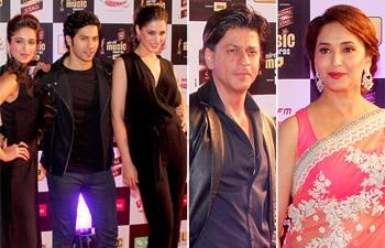 Ileana D'Cruz, Varun Dhawan, Nargis Fakhri, Shah Rukh Khan, Madhuri Dixit