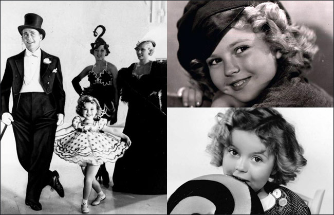 Shirley Temple, Bright Eyes, The Little Colonel, Curly Top, Wee Willie Winkie, Heidi