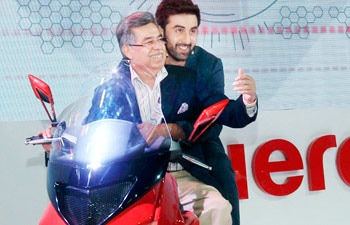 Pawan Munjal and Ranbir Kapoor