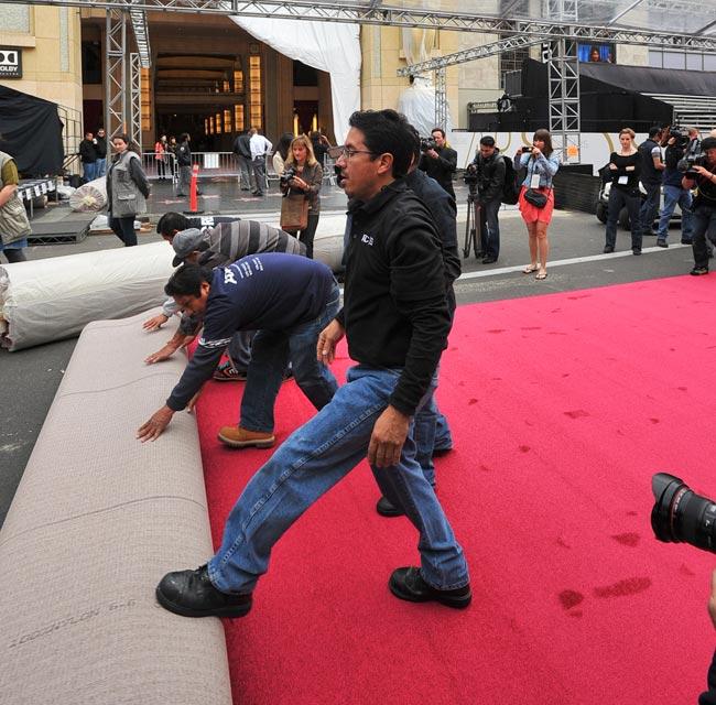 Oscar 2014 red carpet rolls