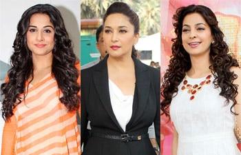 Vidya Balan, Madhuri Dixit and Juhi Chawla