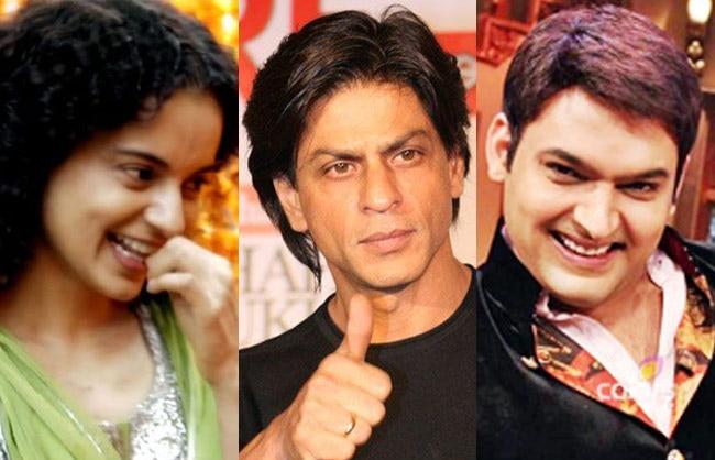 Salman Khan, Shah Rukh Khan, Kapil Sharma, Kangana Ranaut, Rekha, Mika Singh, Daisy Shah, Narendra Modi