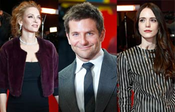 Uma Thurman, Bradley Cooper and Stacy Martin