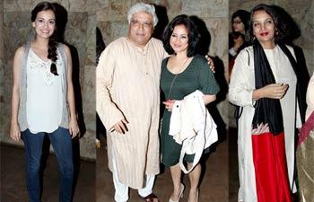 Dia Mirza, Javed Akhtar, Divya Dutta and Shabana Azmi