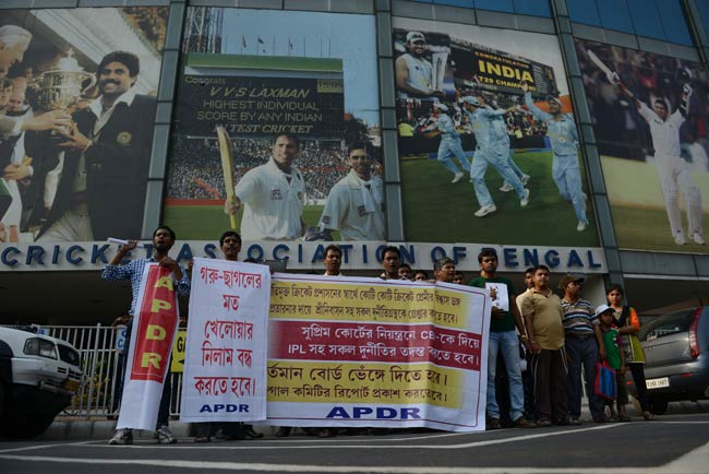 Protest against BCCI