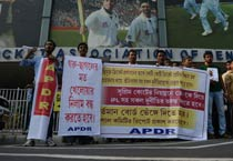 Protest against N Srinivasan in Kolkata