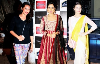 Sonakshi Sinha, Shreya Ghoshal, Jacqueline Fernandez, Zoya Akhtar, Preeti Jhangiani