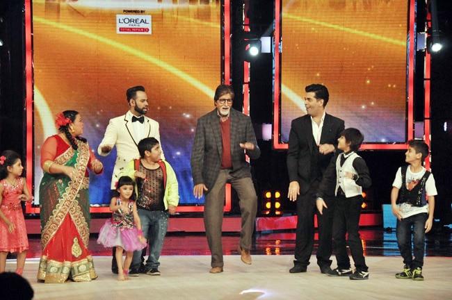 Amitabh Bachchan and Karan Johar