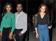 Double date: Harman-Bipasha and Shilpa-Raj enjoy night out!