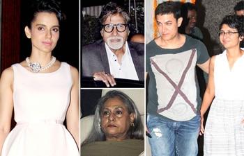 Kangana Ranaut, Amitabh, Jaya Bachchan, Aamir Khan and Kiran Rao