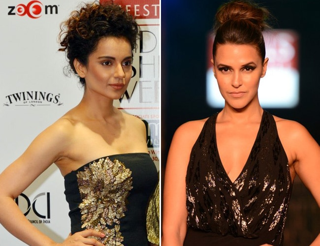 Kangana Ranaut and Neha Dhupia