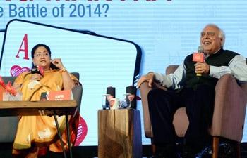 Rajasthan CM Vasundhara Raje and Union Minister Kapil Sibal