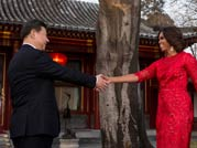 Michelle Obama with Chinese President Xi Jinping his wife Peng Liyuan