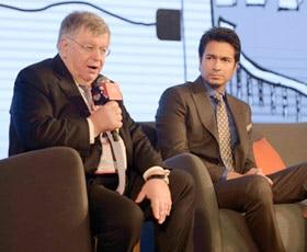 Didier Lombard (left) and Rahul Sharma