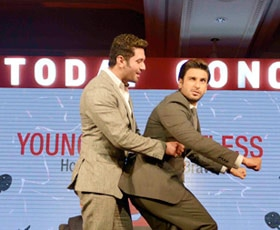 Ranveer Singh, Chirag Paswan at India Today Conclave 2014