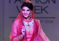 Jacqueline Fernandez walks the ramp for Tarun Tahiliani
