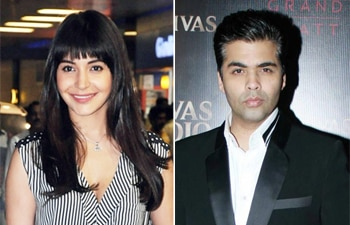 Anushka Sharma and Karan Johar
