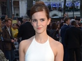 Premiere of Noah: Emma Watson shows off toned curves in white gown